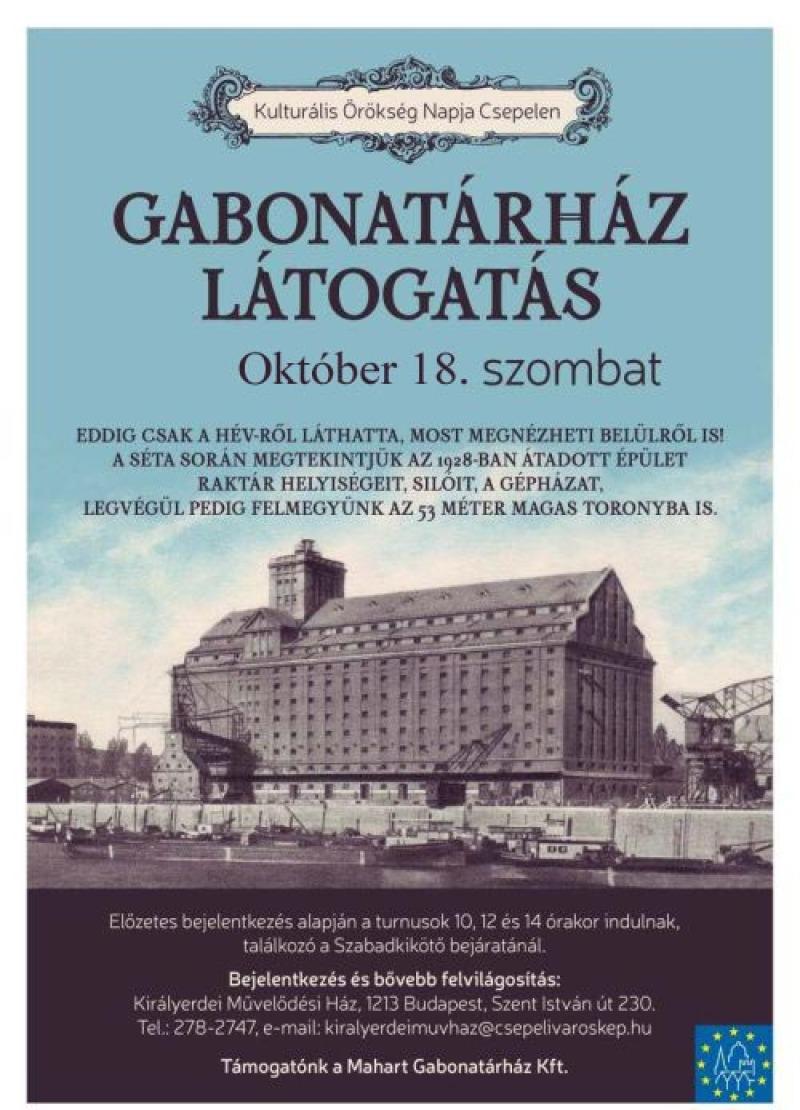 Gabonatárház látogatás